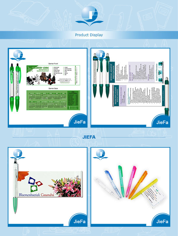 2014 Plastic Promotion Pen With Roll Out Paper