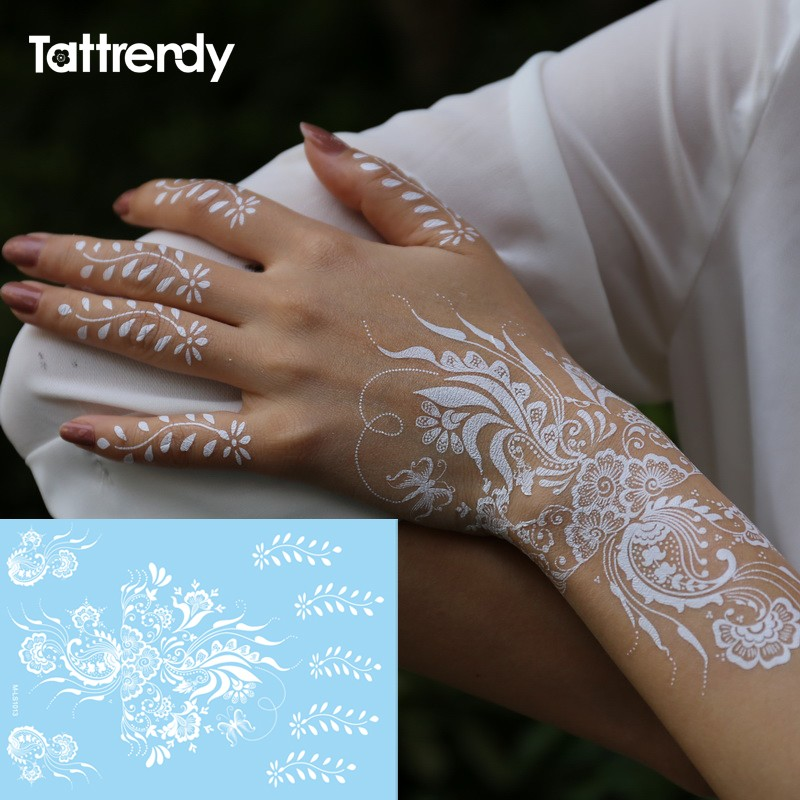 6f8bcc606 Wholesale Trendy Fake Tattoos Henna White Flash Tattoo Temporary ...
