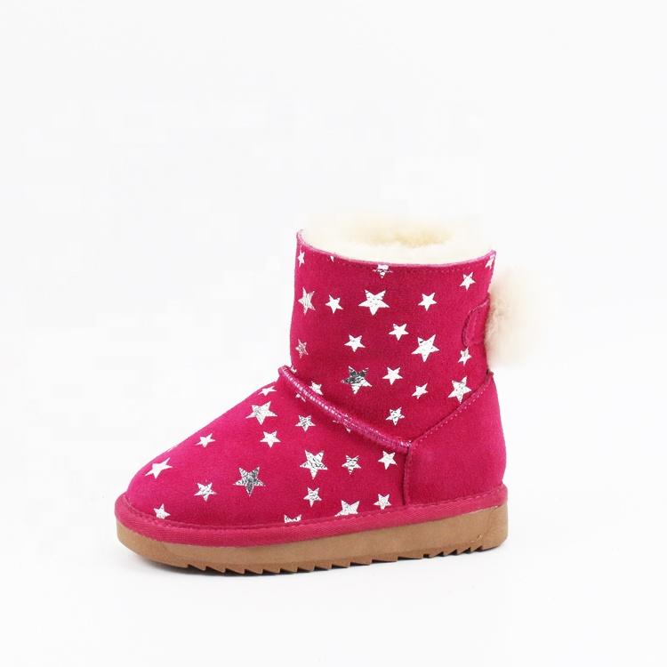 83e68fff3dad Custom Latest Fashion Winter Warm Girls Ankle Indoor Outdoor Children s  Snow Boots For Kids - Buy Custom Fashion Winter Genuine Leather Upper Warm  Fuzzy ...