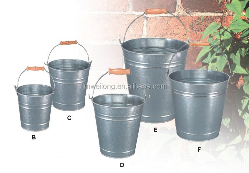 2015 galvanized tubs and buckets