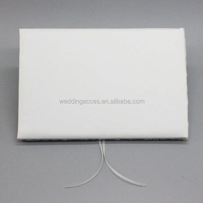 M3249Plain White Guest Book and Pen Holder Western Style Wedding Guest Signature Book for Wedding Accessories