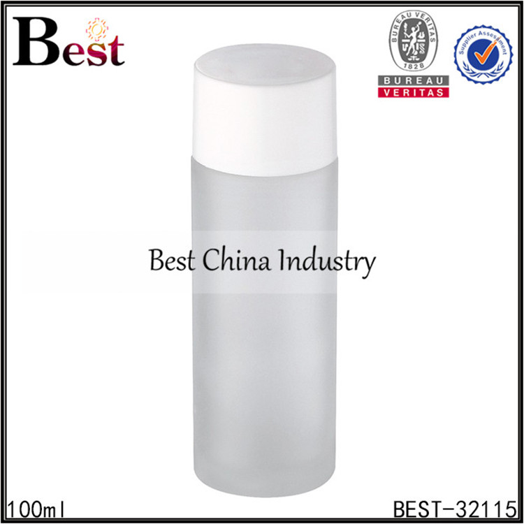 100ml lotion frosted recycled glass bottle manufacturing plant