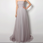Polyester Plus Size Bridesmaid Dress different size for choice light gray 304235
