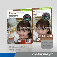 260GSM RC High Glossy Inkjet Photo Paper, Jumbo Rolls (large-format)