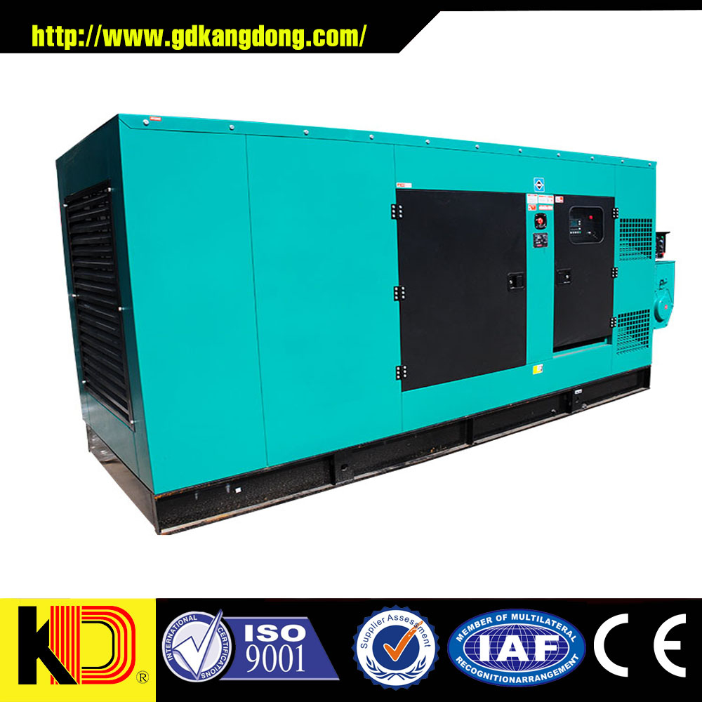 Excellent functions Timely after services soundproof 250kw 312.5kva diesel generator with CUMMINS engine