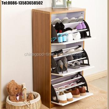 3 Tier Wooden Shoe Cabinet Custom Rack