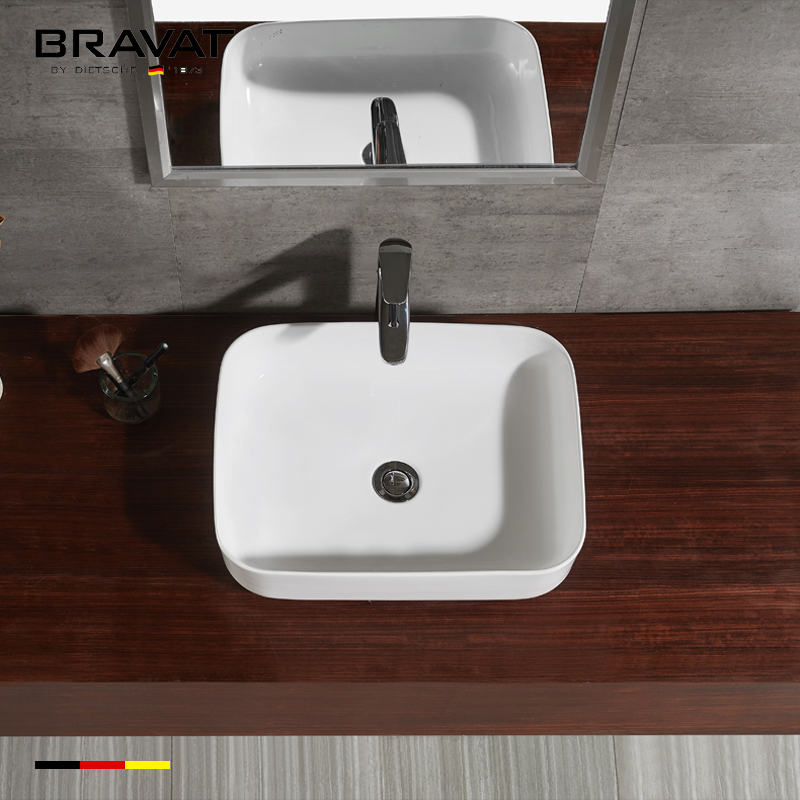 Countertop ceramic wash basin price in pakistan sanitary ware C22250W, View  wash basin price in pakistan, Bravat Product Details from Bravat (China)