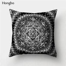 Хунбо 1 шт наволочка с рисунком Мандала датура полиэстер богемный пледы наволочка домашний декор(Китай)