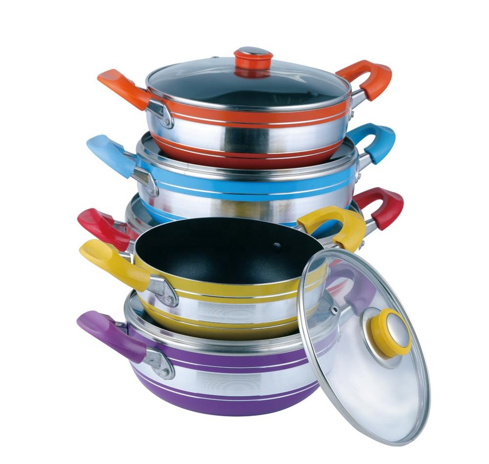 Aluminium cooking set non-stick soup pot sauce pot popular in india