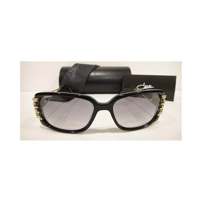b970cb5940a Get Quotations · Cazal 8005 Sunglasses Shiny Black Gold Authentic New