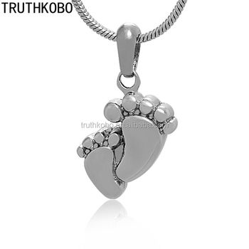 Baby feet cremation ash pendant stainless steel memorial jewelry baby feet cremation ash pendant stainless steel memorial jewelry wholesale cremation jewelry from china supplier urn mozeypictures Image collections