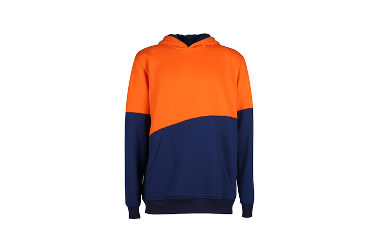 Custom Embroidered Orange Block Pullover Fleece Personalized Sweatshirt Sports Hoodie Egyptian