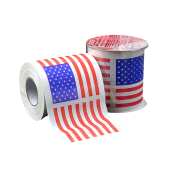 Eco Friendly Disposable US Flag 80gsm Roll Toilet Paper