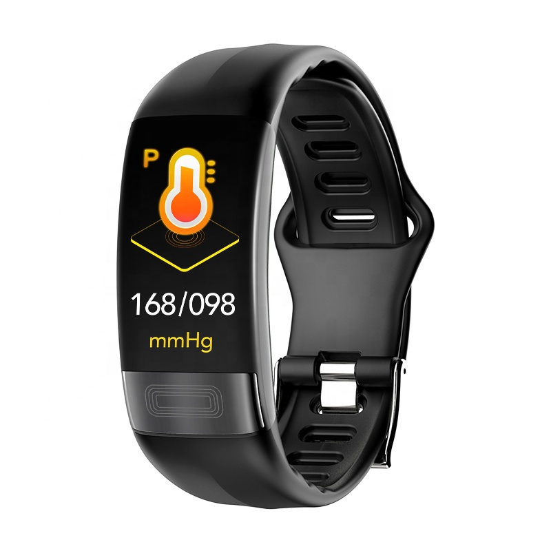 2019 New Color Screen 0.96 inch Blood Pressure Heart Rate Monitor IP67 Waterproof PPG ECG Smart Bracelet P11 фото