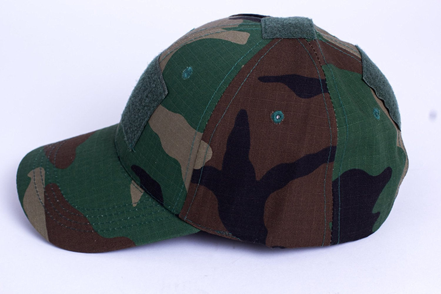 fe23e2b0c86 Get Quotations · Noga Camouflage Velcro Hat Simplicity Outdoor Sun Hat Army  Hat Woodland Camo Outdoor Tactical Cap for