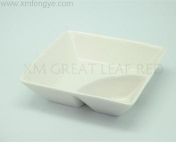Porcelain Square Plate Ceramic Divided White Dinner Plates