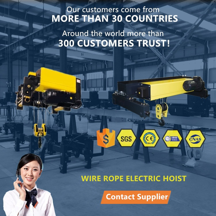 10T18M  double girder electric wire rope hoist trolley  Europe style