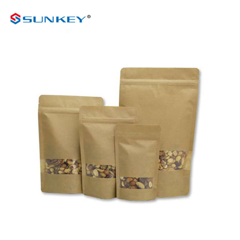 Storage Bags Zip Lock Frosted White Striped Plastic Packaging Stand Up Pouch For Food Snack Dried Tea Sealing Storage Ziplock Doypack Bag