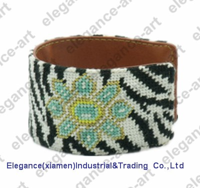 Needlepoint Cuff custom bracelet