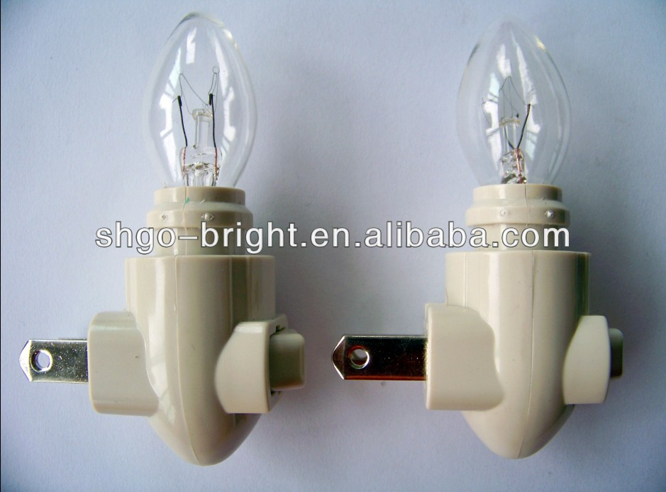 Switch lampholder 120V lamp holder for night lights