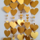 Gold Heart Garland Wedding Garland Engagement Decoration Bridal Shower Bunting Wedding Party bachelorette kit