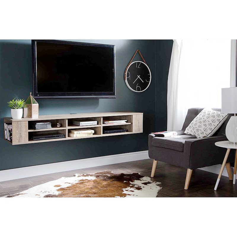 2019 Latest Design Tv Wall Cabinet Floating Mountable Unit Wooden Hanging Stand High Quality Led Mount