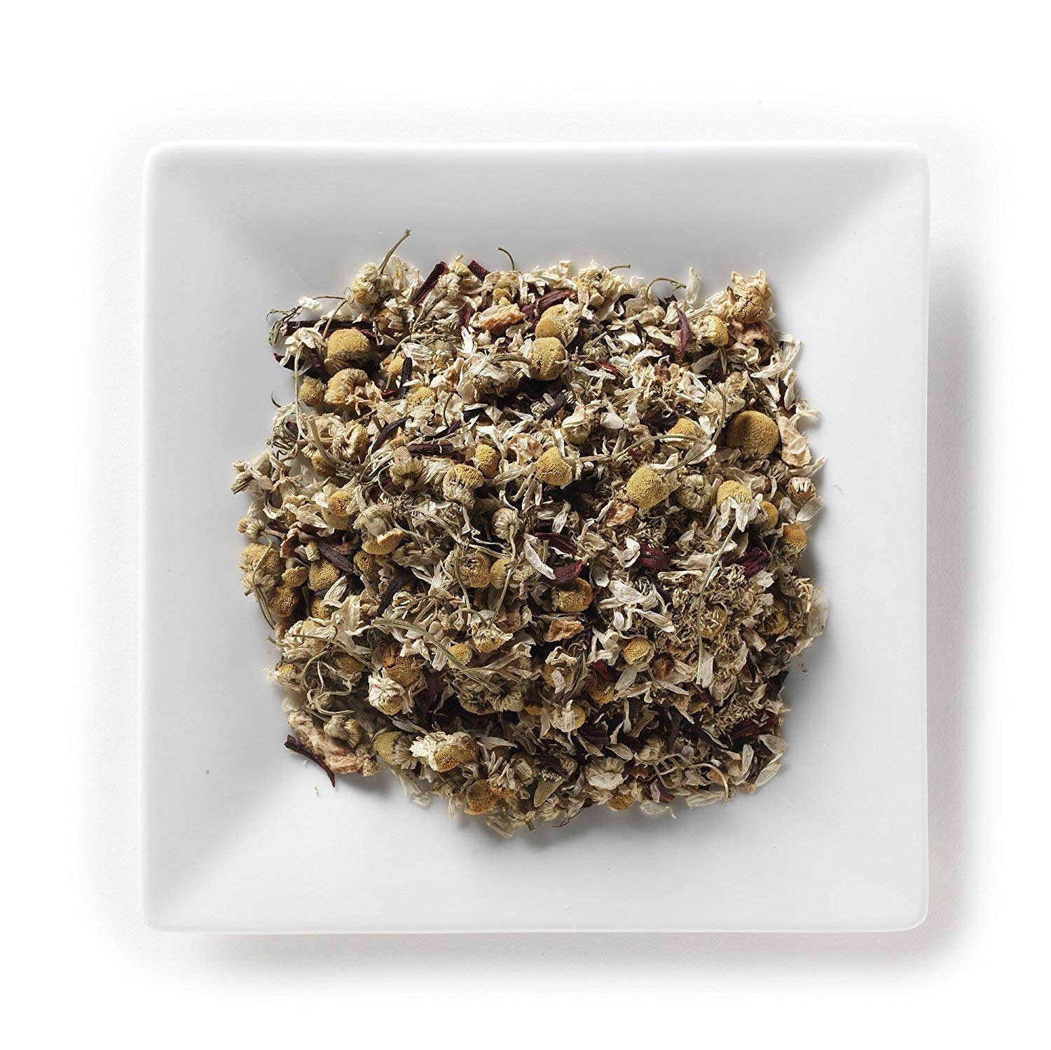 Mahamosa Lemon Chamomile Tea 2 oz - Loose Leaf Herbal Flower Tea Blend (with chamomile, lemon peel, hibiscus, lemon flavor)