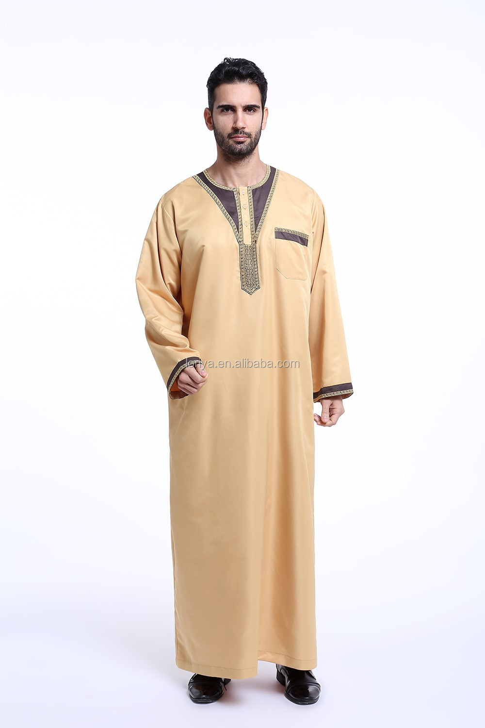 New fashion design abaya high quality kaftan muslim designer jubah islamic men's abaya
