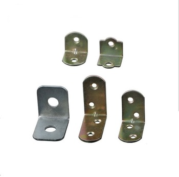 Manufacturer Customized Metal sheet Stamping Parts Funiture Usage Carbon Steel Double Corner Brace Flat Angle Bracket