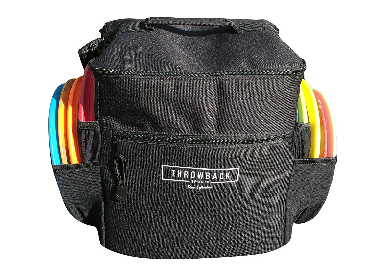 Throwback Mini Sack - Starter Disc Golf Bag with Cooler - Perfect Frisbee Golf Bag for Beginners, Holds 6 - 10 Discs
