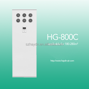 High efficiency china HEPA filter air purifier with heat recovery and fresh air HG800C