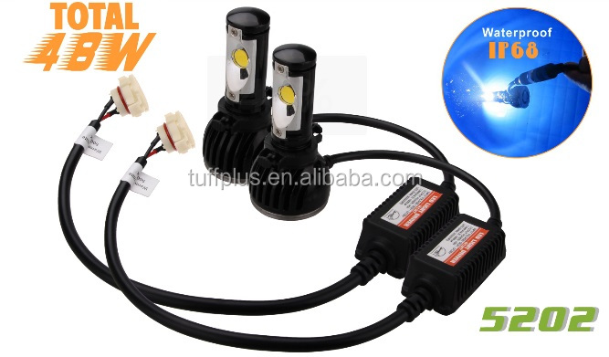 Top selling 5202 led headlight, fog lights for car and motorcycle