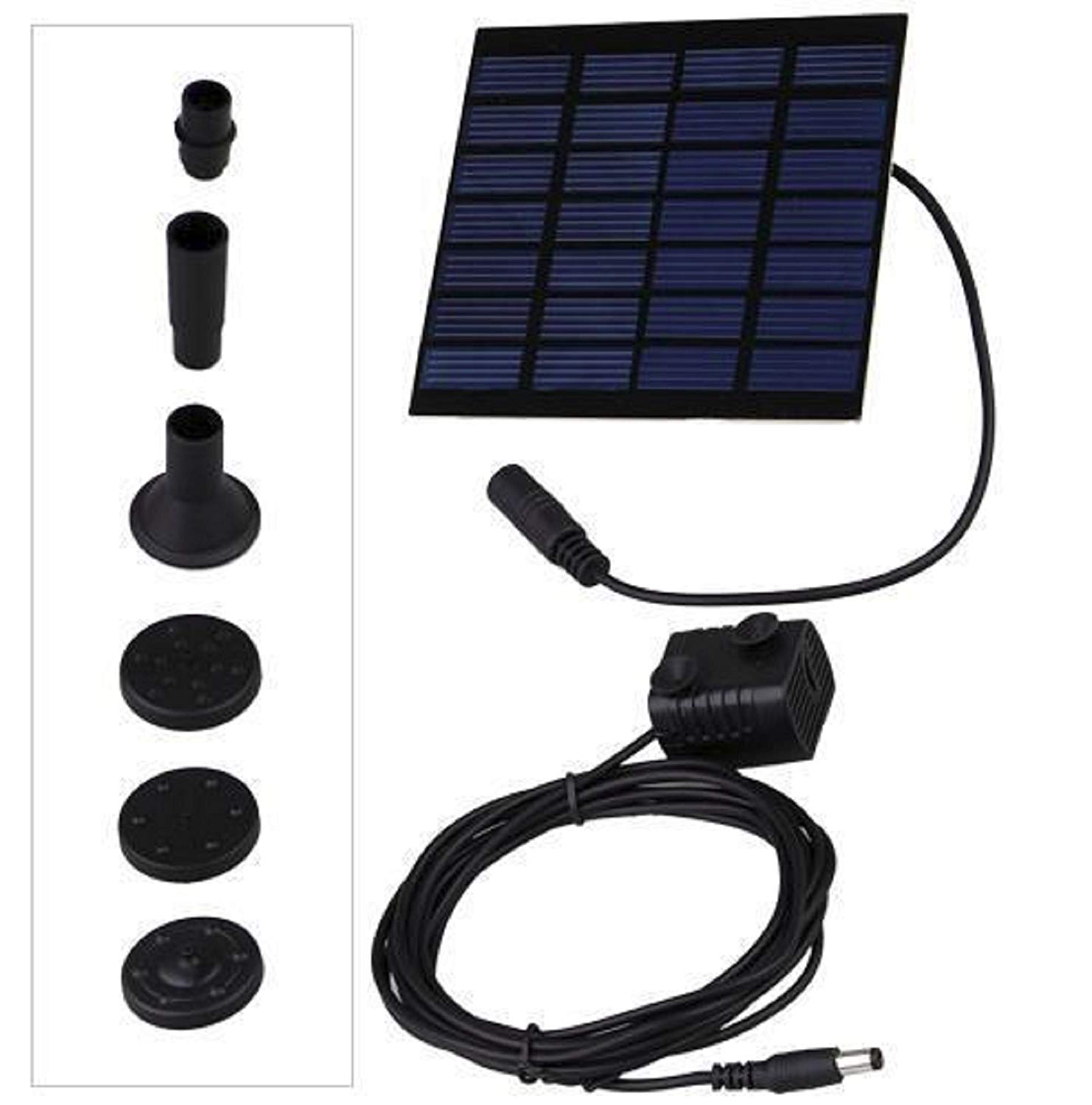 HOT SALE! 7V Fountain Water Pump + Solar Powered Panel Kits For Garden Pond Pools Watering
