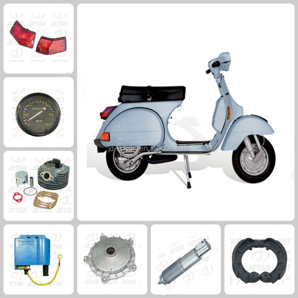 vespa px150 rear wheel/front rim/guard comp/speedometer gear/Seat assy motorcycle parts to South America market from China