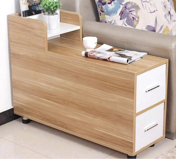 Movable Storage Cabinet Sofa Side Table