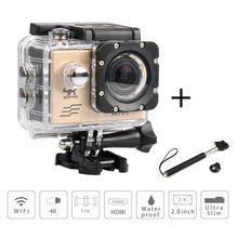 Sport Camera 4K FHD 1080P 60FPS Appareil Photo Camera sport camera 16mp mini action camera hd wifi action camcorder + selfstick