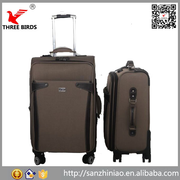 China supplier 4 wheels carry on style expandable rolling sky travel luggage