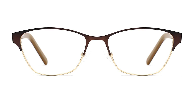 de7899aa69 TIJN Two-tone Cateye Metallic Non-prescription Eyeglasses Glasses Frame