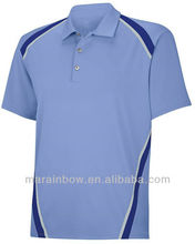 hot sale promotion products blank t-shirt- high quality Pique Taped Golf Shirts