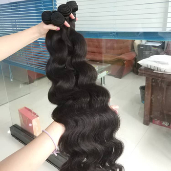 TD HAIR same day shipping weave human hair bundles,virgin Brazilian hair 3 bundles ombre BODY wave bundles with closure