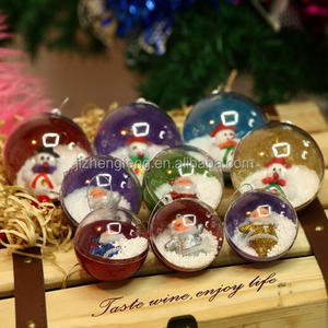 Christmas Pendant Decorative Children's Toys Plastic Transparent Christmas Ball