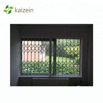Anti-theft retractable grilles manufacture window burglar bars