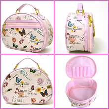 Cute Small Handbag Zippered Toiletry Bag Strap Cosmetic Bag