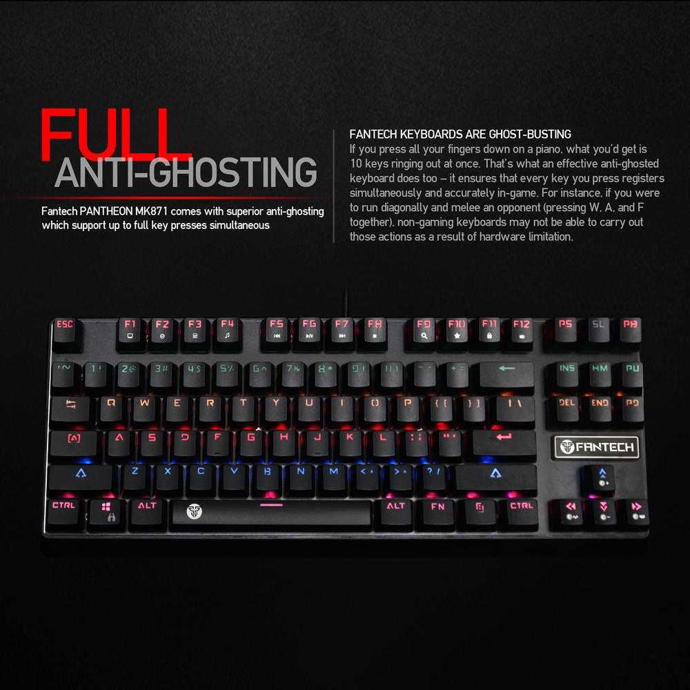 9a34e2340d5 Fantech TKL Water Resistant RGB backlit mechanical keyboard outamu  replaceable redragon keyboard