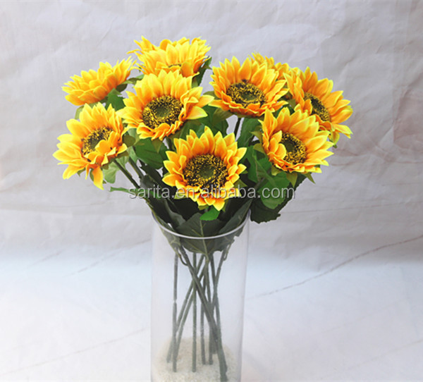 real touch artificial flower artificial silk sunflowers wholesale
