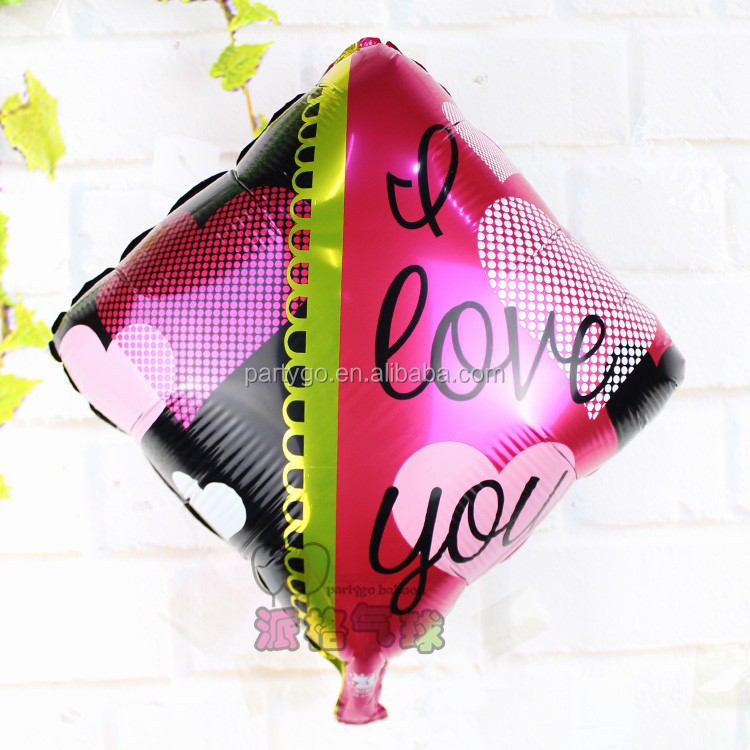 Wholesale 18 inch Heart Shaped I Love You Helium Foil Balloons Birthday Wedding Party Decorative Balloons