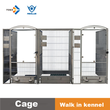 Newest Professional indoor and outdoor walk-in iron fence dog kennel
