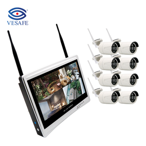 VESAFE CCTV 8CH 960P CCTV Camera System Waterproof Wifi Nvr Kit Camera Wireless Wifi IP Camera Nvr Kit