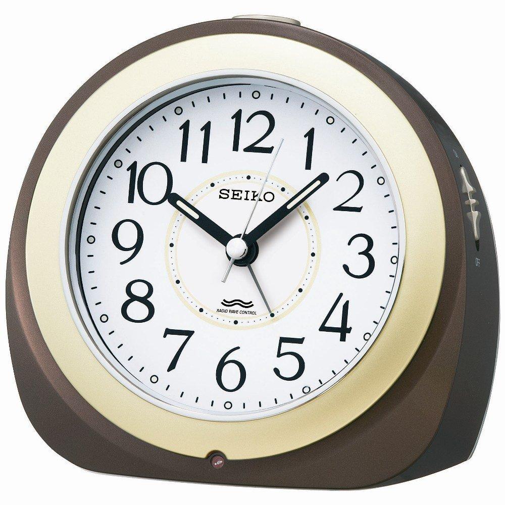 SEIKO CLOCK ( Seiko clock ) Standard automatic lights radio alarm clock ( tea ) KR331B