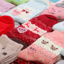 Cheapest!!! Free Shipping Women Winter Rabbit Wool Socks 2014 Female Thermal Thickening Snowflake Warm Socks 10pcs=5pairs/lot